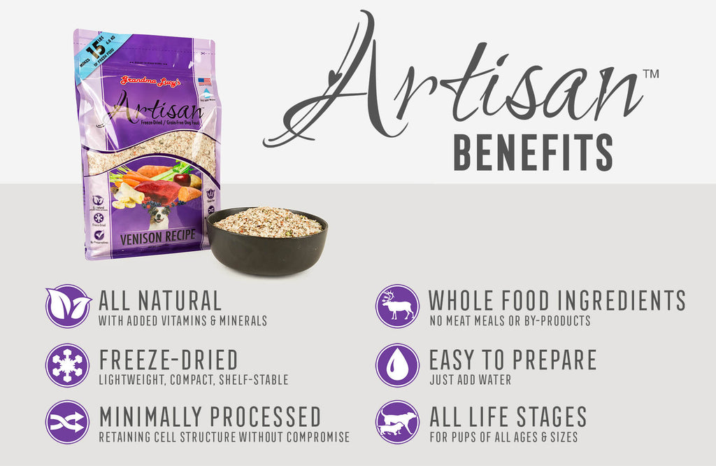 Artisan Benefits: All Natural, Freeze-Dried, Minimally Processed, Whole Food Ingredients, Easy To Prepare, All Life Stages