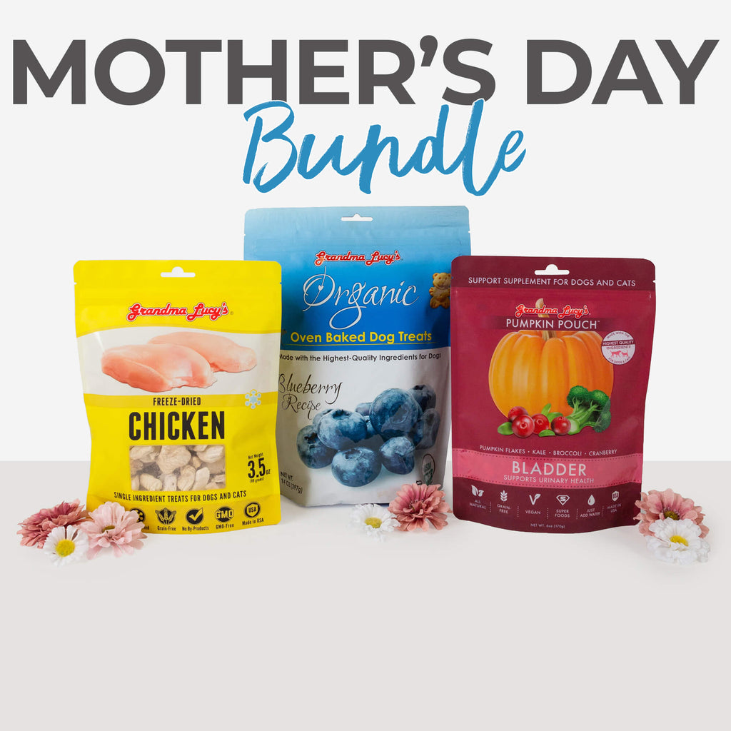 Organic Blueberry, Singles Chicken, Pumpkin Pouch Bladder bundle