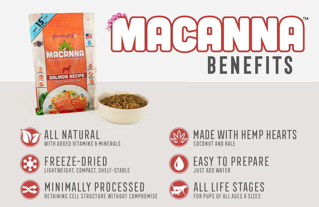 Macanna Benefits: All Natural, Freeze-Dried, Minimally Processed, Made with Hemp Hearts, Easy To Prepare, All Life Stages
