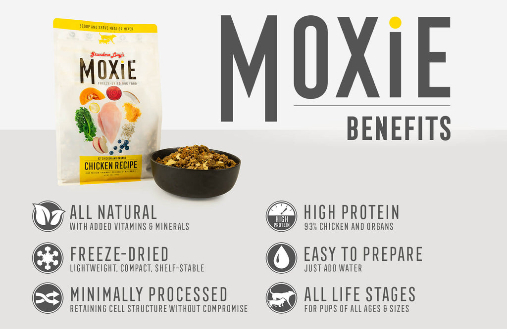 Moxie Benefits: All Natural, Freeze-Dried, Minimally Processed, High Protein, Easy To Prepare, All Life Stages