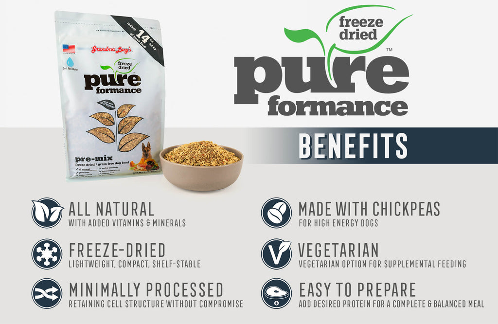 Pureformance Benefits: All Natural, Freeze-Dried, Minimally Processed, Made with Chickpeas, Vegetarian, Easy To Prepare
