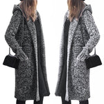 Cardigan Women Large Coat Casual Black Jacket Winter Sweaters