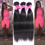 Brazilian Virgin Hair Straight 4 Bundles Human Hair Extensions  Weave