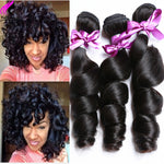 Brazilian Virgin Hair Loose Wave 3 Bundles Brazilian Hair Weave