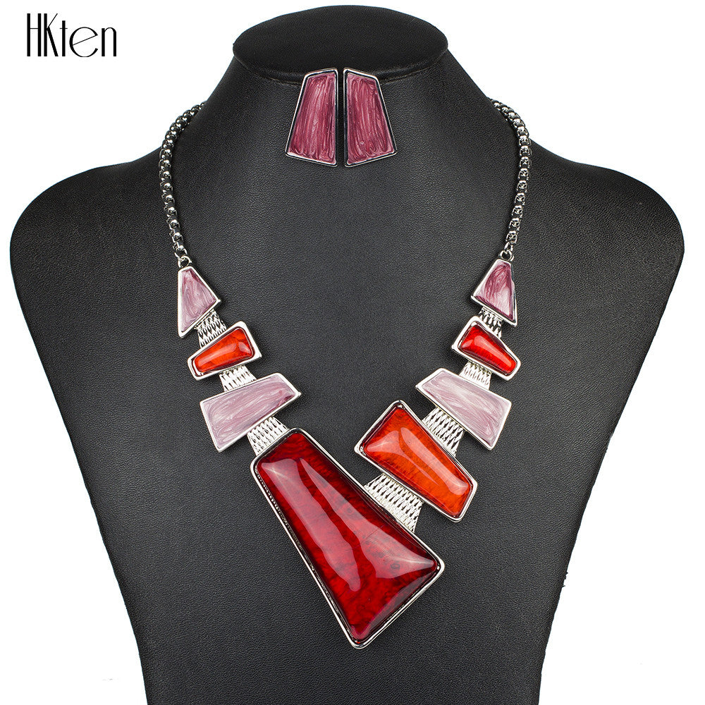 Fashion Brand Jewelry Sets Silver Plated Necklace Unique Design