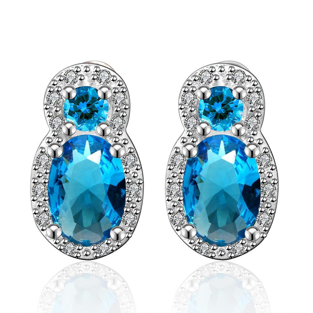 Double Sapphire Earrings