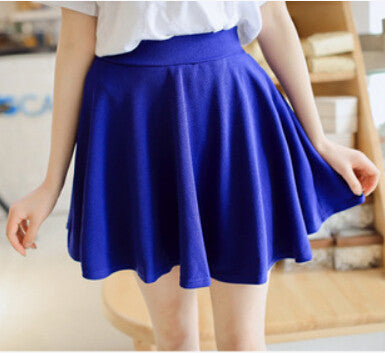 Safty mini skirt women's spring and summer high waist pleated short skirt