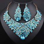 Trendy  wedding Jewelry Sets Crystal Necklace Set Party Wedding