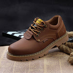 Winter Spring Autum Ankle Boots Genuine Leather men shoes