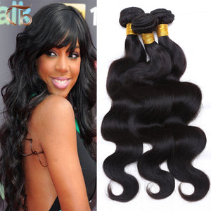 Unprocessed brazilian virgin hair body wave 4pcs per lot human hair  8-30 inches hair extensions Weave