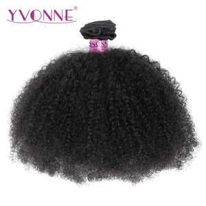 Yvonne Afro Curly Brazilian Virgin Hair 1 Piece Natural Color 100% Human Hair Weaving Free shipping