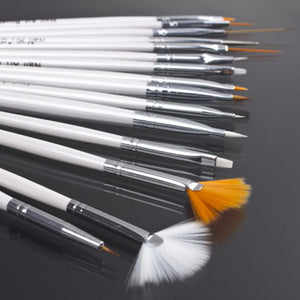 15 pcs Nail Art Decorations Brush Set Tools Professional Painting Pen