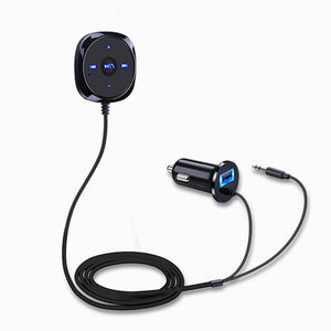 Bluetooth Car Kit Stereo Music Receiver MP3 Player Hands-free 3.5mm Aux Input 2.1A USB Speakerphone Car Charger Hot Sale