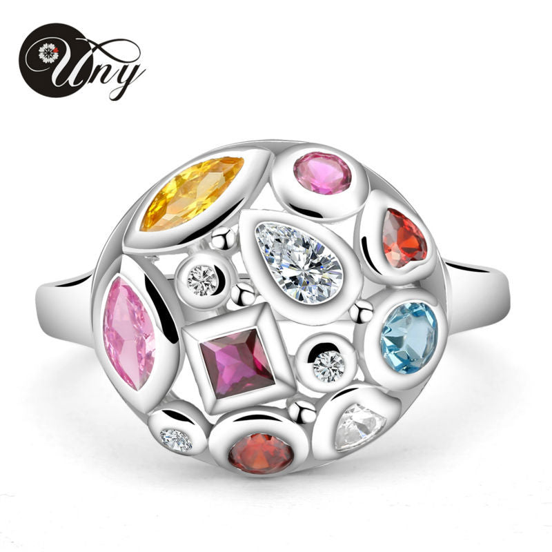 Personalized Birthstone Ring 925  Sterling Silver Fashion Jewelry Custom Mothers Ring Anniversary Love