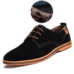Men Casual Shoes with fur male comfortable leather shoes men wear to work