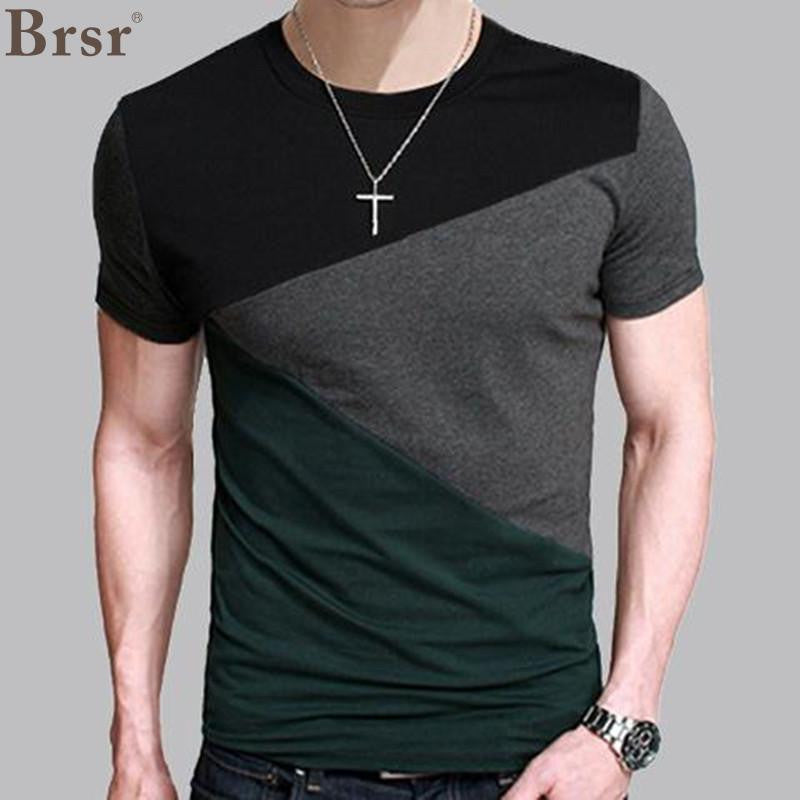 Mens T-Shirt Slim Fit Crew Neck