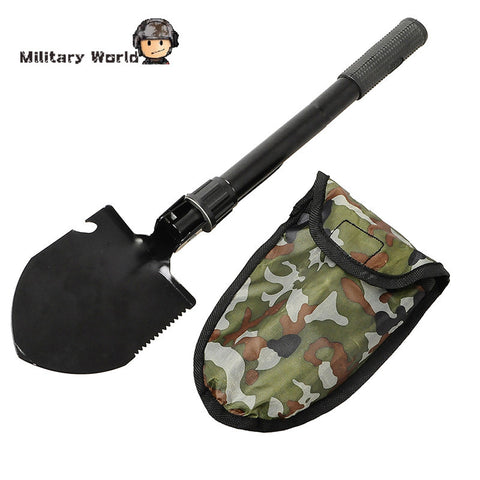 New Mutilfuctional Camping Hiking Shovel Military Folding Shovel Outdoor Sport Portable Survival Kit W/Durable Bag Lightweight