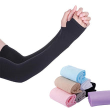 1 Pair Ice Silk Arm Sleeves Cover UV Sun Protection Cooling Sport Outdoor Cycling Sun Protection Arm Sleeves Bicycle Arm Protect