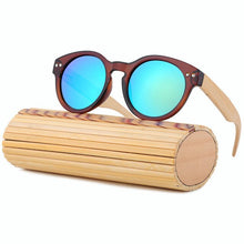 Luxury round bamboo sunglasses