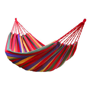 Large striped woven hammock