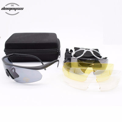 Sports protective eyewear, mulit lens, prescription insert