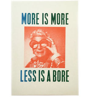 Iris Apfel- More is More