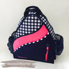 Navy Check White Pink