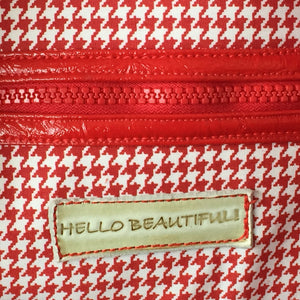 Red & White Hounds Tooth