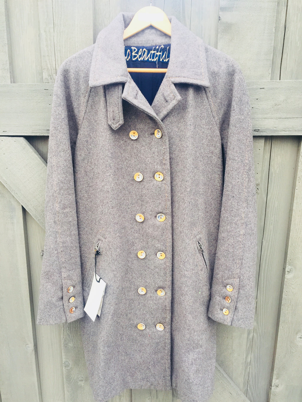 Charming Wool Coat- Winter Grey