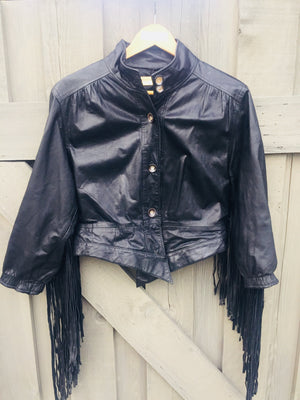 Rockstar Fringe Leather Jacket