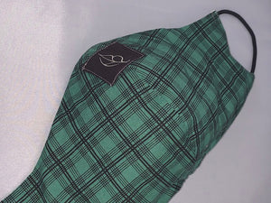 green and black lg plaid