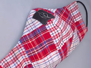 plaid check red