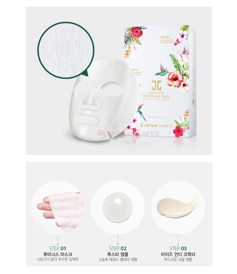 Korean Jayjun Sheet Face Mask Anti-dust Whitening Mask in UK 韩国杰俊面膜美白防尘英国现货