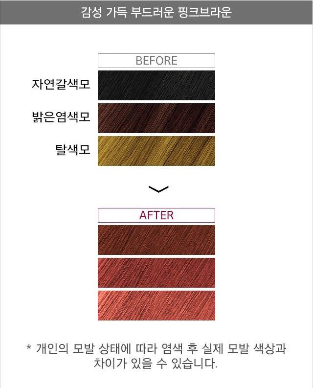 7 Days Colouring Hair Treatment Pink Brown