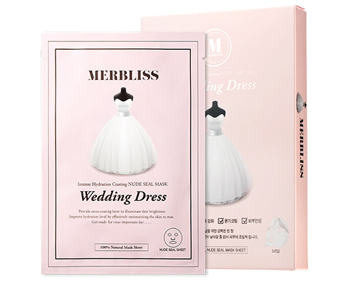 Wedding Dress Intense Hydration Coating Nude Seal Mask 5pc