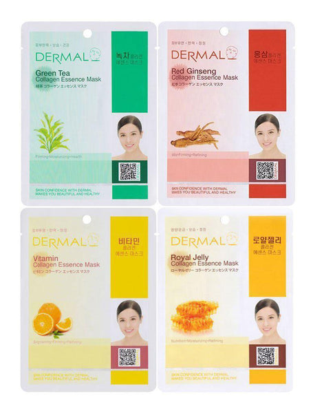 Dermal Collagen Essence Mask 16 Sheets Variety Pack