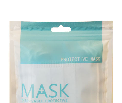 3 Ply Disposable Protective Face Mask Travel Pack