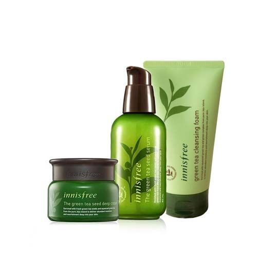 The Green Tea Seed Serum + Deep Cream + Green Tea Cleansing Foam