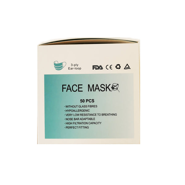 Disposable Face Masks with CE Marking 50pcs
