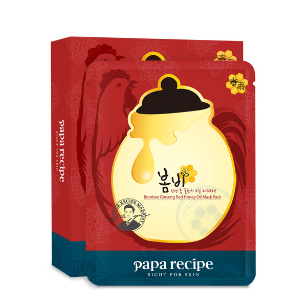 Bombee Ginseng Red Honey Oil Mask 10pc