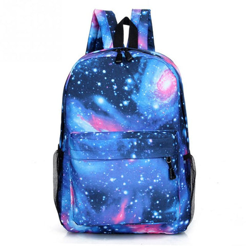 Galaxy canvas backpack