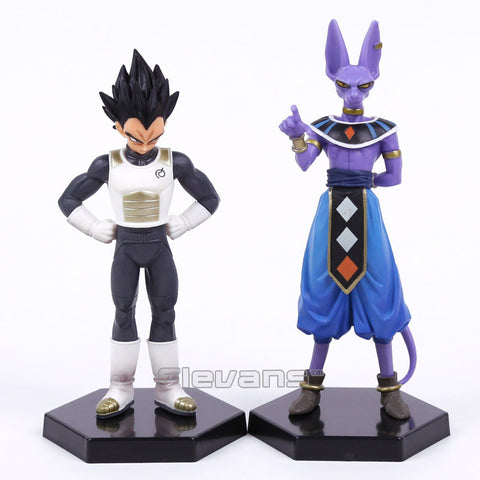 Dragon Ball Z Vegeta and Beerus PVC Figures Collectible Model Toys 2pcs/set - America Geek