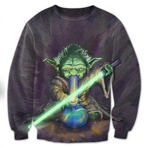 Yoda Lighting Up - America Geek