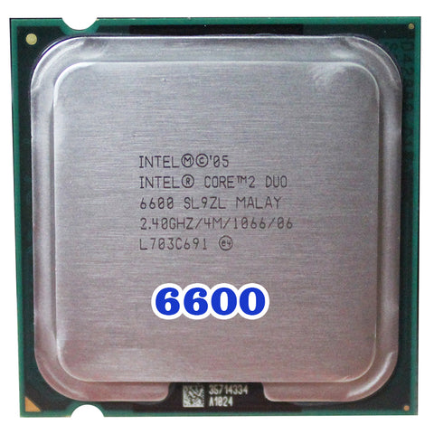 Intel Core 2 Duo E6600 CPU Processor (2.4Ghz/ 4M /1066MHz) 65W Socket 775