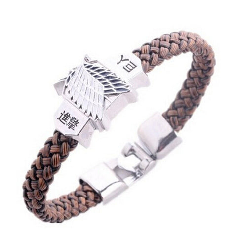 Attack On Titan Rope Chain Bracelets Shingeki No Kyojin Scouting Legion - America Geek