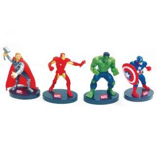 The Avengers - Plastic Figurine Topper 4PC -  Cupcake Central