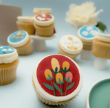 Floral Themed Cupcakes - Gift Box (VEGAN) (N) - Cupcake Central