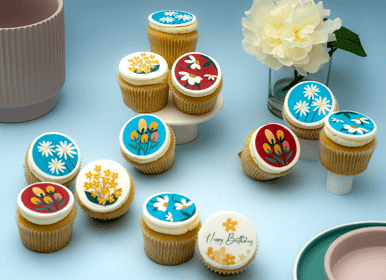 Floral Themed Cupcakes - Gift Box
