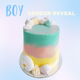 BOY Gender Reveal - Ombre Cake -  Cupcake Central