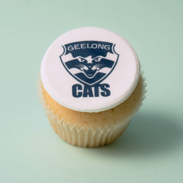 Geelong Cats - 12 x Cupcake Gift Box -  Cupcake Central
